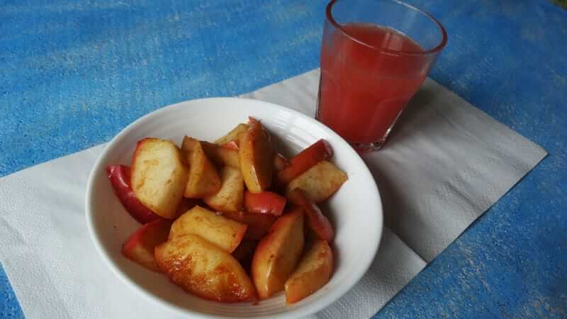 duszone jabłka