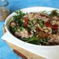 sałatka z tuńczykiem i sos winegret